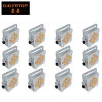 Wholesales Price 12XLOT Wireless Battery Powered 9*18W 6in1 RGBWA UV Led Uplighting,Professional LED Par Remote DMX Control