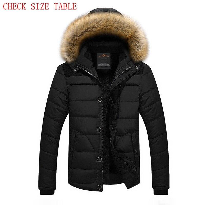 2019 New Winter Jacket Men Parka Coat Men Down Warm Fashion Plus Size coat