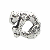 Solid 925 Sterling Silver Animal Charms Leopard Beads Fits European Brand Troll Style Bracelets & Necklaces Jewelry