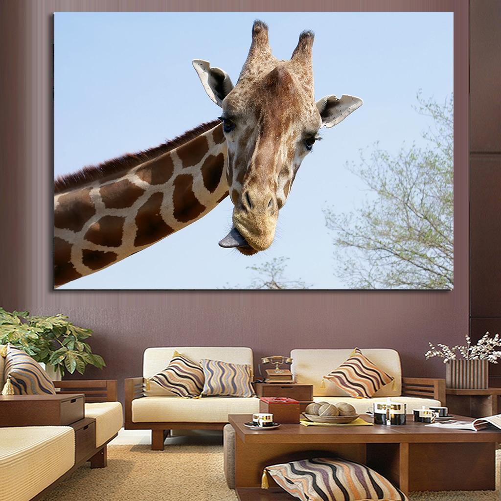 Wall Art African Giraffe Painting Kids Room Decor Wall