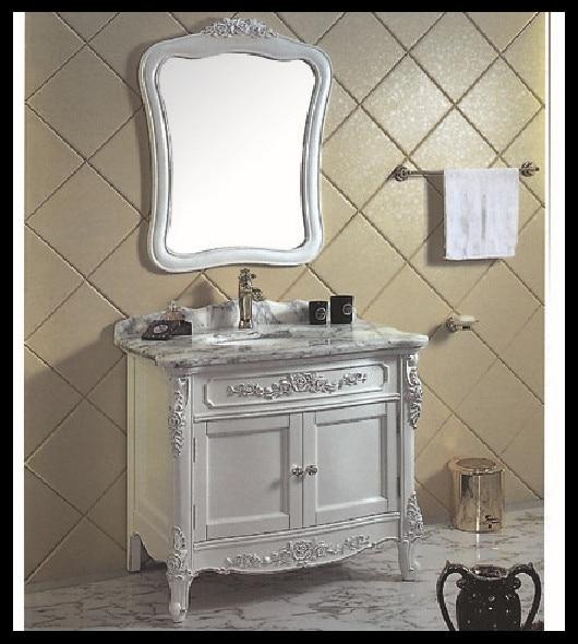 Thailand Oak Solid Wood Modular Bathroom Furniture Bathroom Wooden