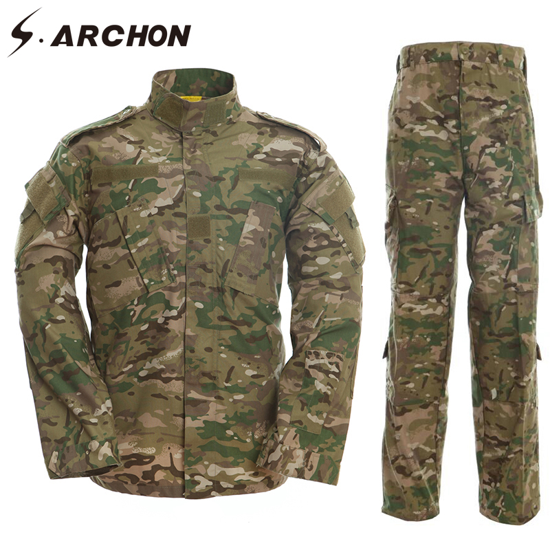 S. ARCHON NOUS RU Armée Soldat uniforme militaire Ensemble Hommes Tactique Multicam uniforme de camouflage ensemble de vêtements Paintball Camo Combat Suit