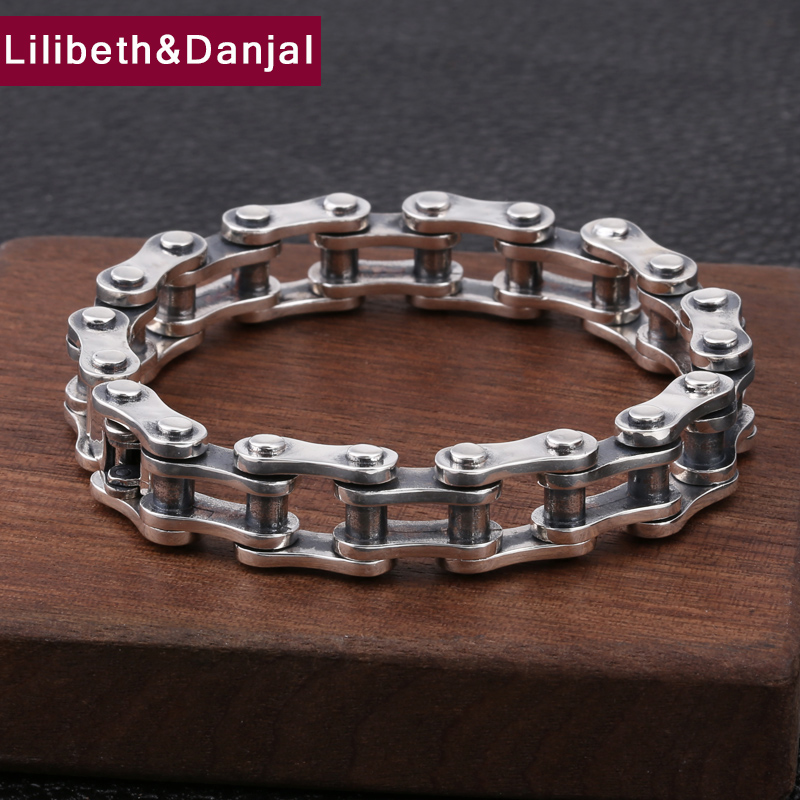 2019 Survival Couple Bracelet 100 Real 925 Sterling Silver Women Creative Bicycle Chain friendship Bracelet Bangle