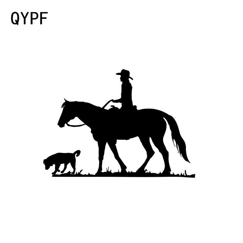 QYPF 14.9*10.7 CM Benzersiz Hound Ve Binicilik Spor Dekor Araba Sticker Yansıtıcı Vinil Grafik Aksesuarları C16-0943