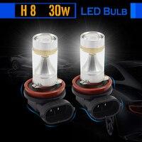1 Pair 30W H8 Car LED Bulb Lamp 700LM White High Quality Auto Fog Light Headlight