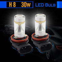 1 Pair 30W H8 Car LED Bulb Lamp 700LM White High Quality Auto Fog Light Headlight