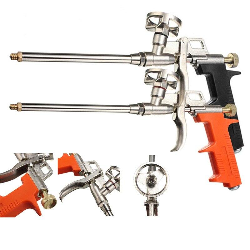 1pcs Black Orange Manual PU Spray Foam Gun Heavy Duty Good Insulation DIY Professional Applicator  Length 28cm