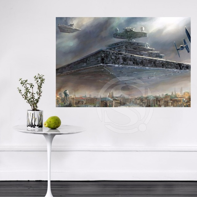 95 hei er verkauf custom star wars sternzerst rer wand. Black Bedroom Furniture Sets. Home Design Ideas