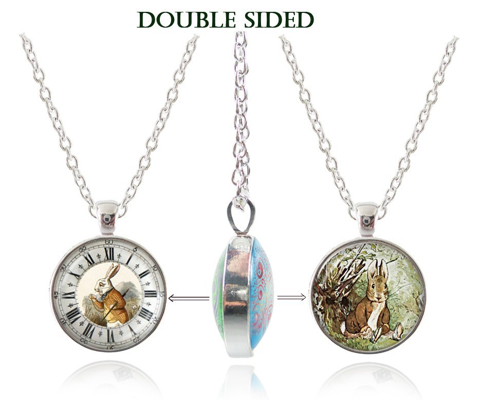 Alice in Alice in wonderland picture necklaces rabbit ...