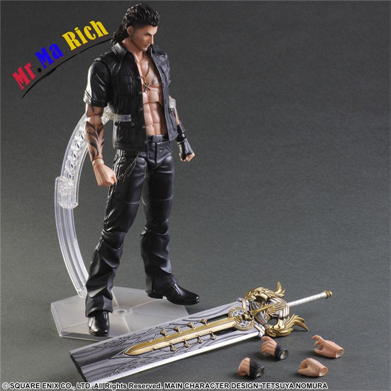 "Play Arts Kai Ff 15 Final Fantasy Xv Gladiolus Action Figure Figurine 11"" In"