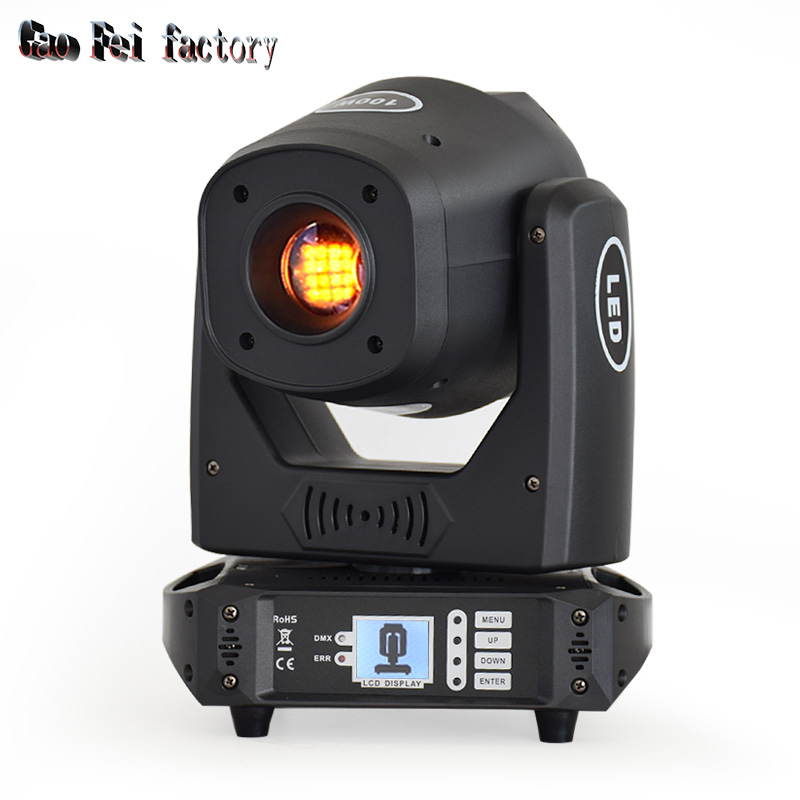 stage light moving head LED 100W sport light gobos with colors and prism dmx 512 led stage lighting for dj