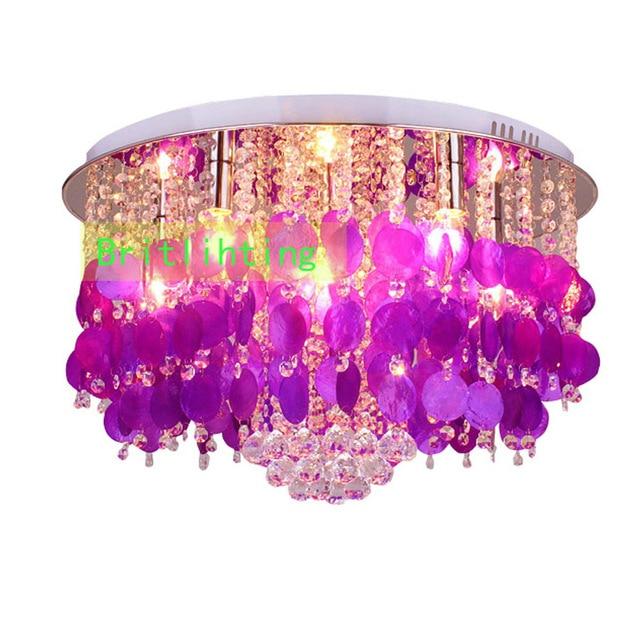 Home Decoratio seashell lighting luxury crystal ceiling lamp modern ...