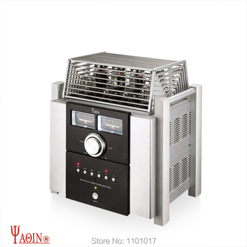 YAQIN MS-120 KT120 Push-Pull Tube Amplifier HIFI EXQUIS TUNG-SOL KT120 Lamp Amp with Remote yaqin t 6p3p tube amplifier 6p3p hifi exquis integrated amplifier with headphone output