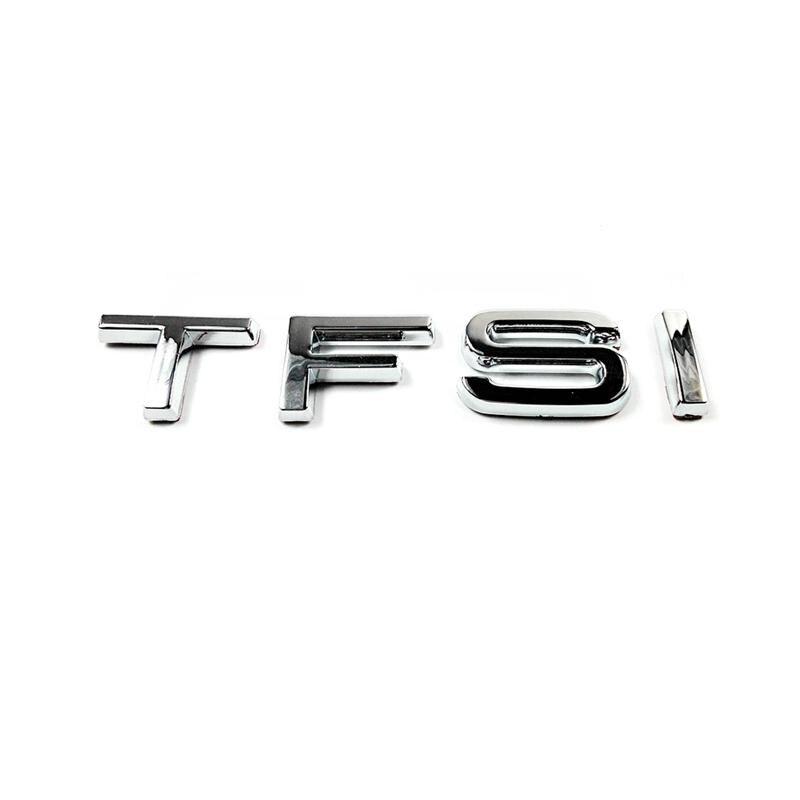 100pcs/lot New Poducts TFSI Chrome Badge Emblem
