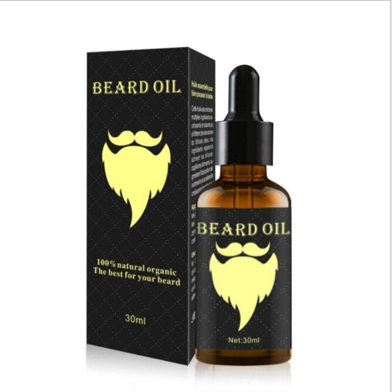 2018 Ginger Oil Men Beard Growth Enhancer Facial Nutrition Moustache Grow Beard Shaping Tool Beard care huile de ricin barbe