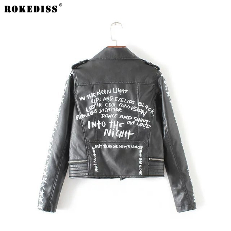 New autumn Fashion punk street brand style Women Lady s Rivet PU font b Leather b