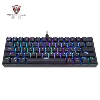 MOTOSPEED CK61 Portable Mechanical Keyboard 61 Keys RGB Backlit Custom Lighting With BOX Axis Machine Separation Tablet Desktop