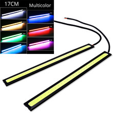1pcs 17cm Universal Daytime Running Light Car COB DRL LED Strip Light External Lights Auto Waterproof Car Styling Led DRL Lamp(China)