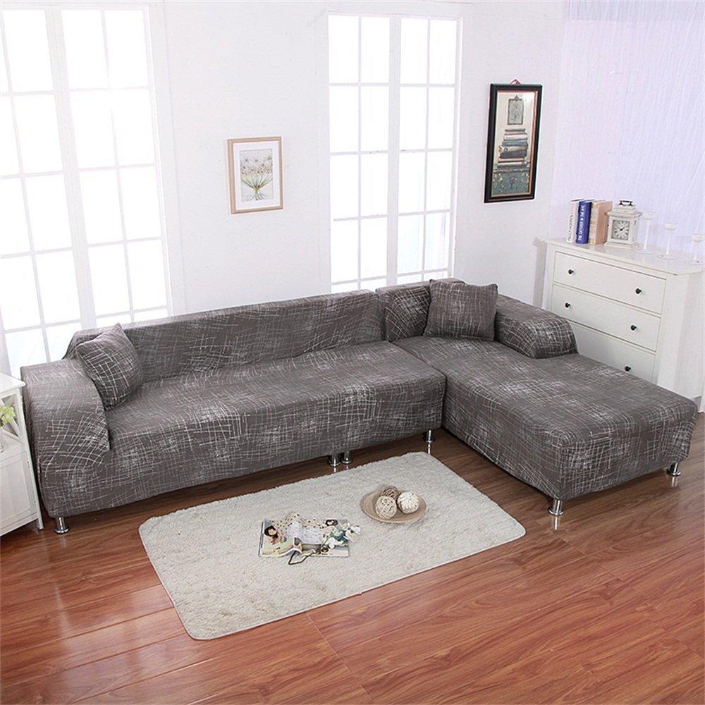 Enipate L Shape Sofa Cover High Stretch Elastic Fabric ...