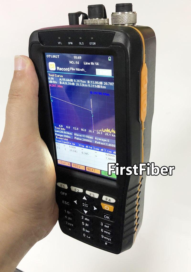 Réflectomètre optique de domaine de temps d'appareil de contrôle d'otdr de haute précision 4 dans 1 OPM OLS VFL Instrument optique de gamme de 3 m à 60 km - 4
