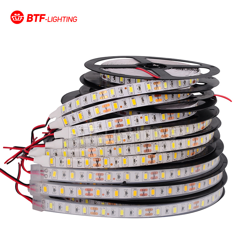 цена на 5M High Quality 5730 5630 SMD 60 LED/m Warm/Natural/Cool White 300 Leds/5M Brighter Than 5050/3528 LED Flexible Strip 12V