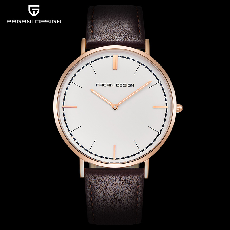 PAGANI Designed The Men's Watch Waterproof Fashion DW Style Business Quartz Watch Gold And Silver Ultra-thin Watch Montre Homme