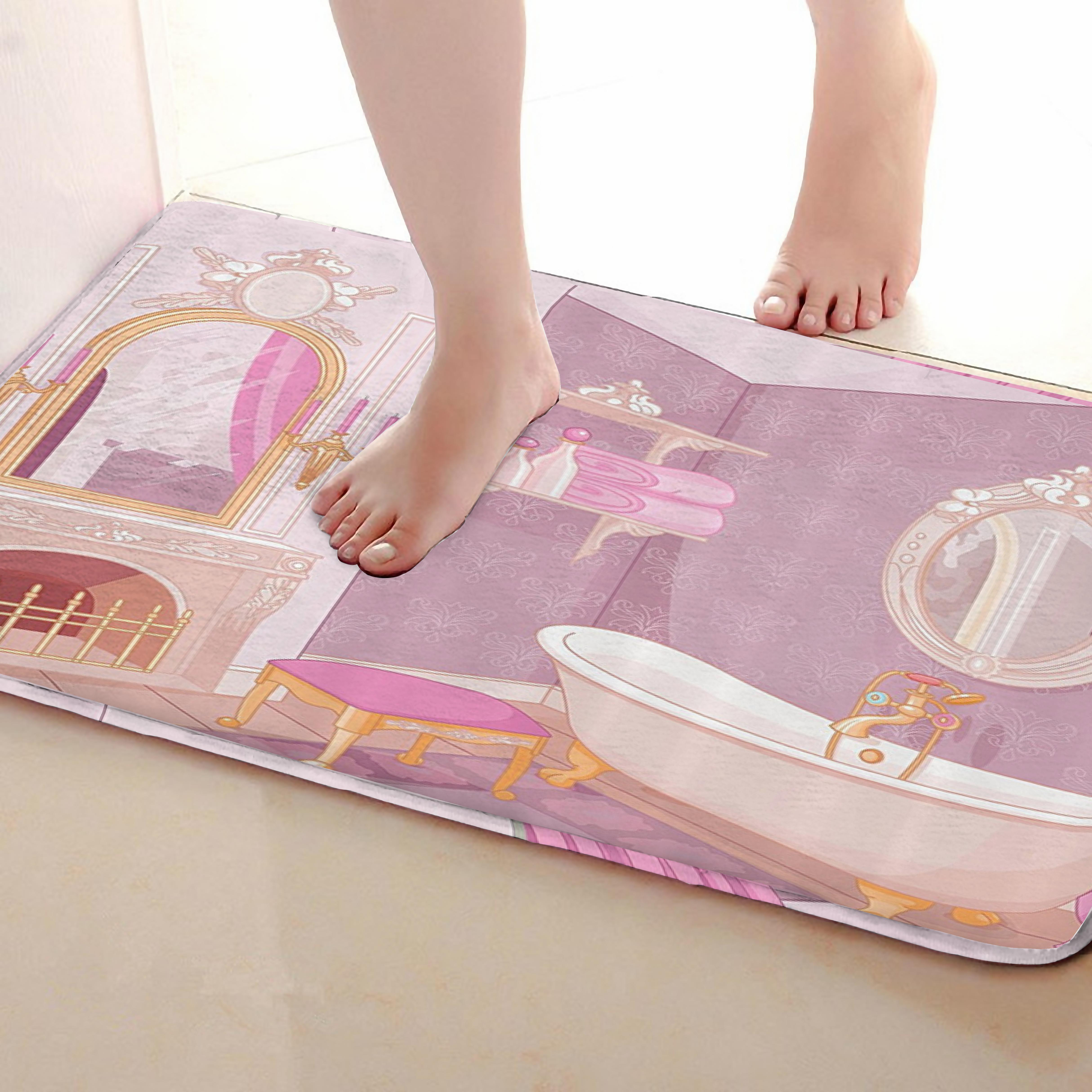 Bathroom Style Bathroom Mat,Funny Anti skid Bath Mat,Shower Curtains Accessories,Matching Your Shower Curtain