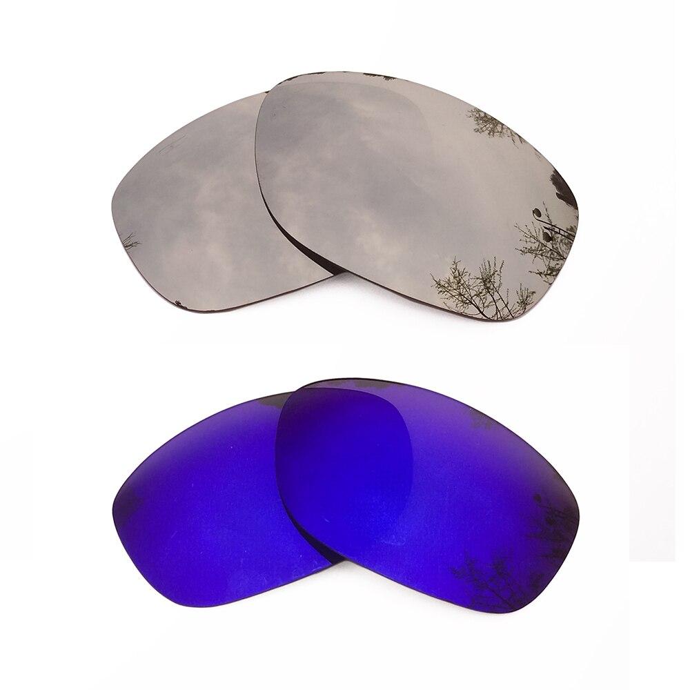 Серебряные зеркальные и фиолетовый зеркальные Поляризованные замены линзы для Pit Bull кадра 100% UVA и UVB