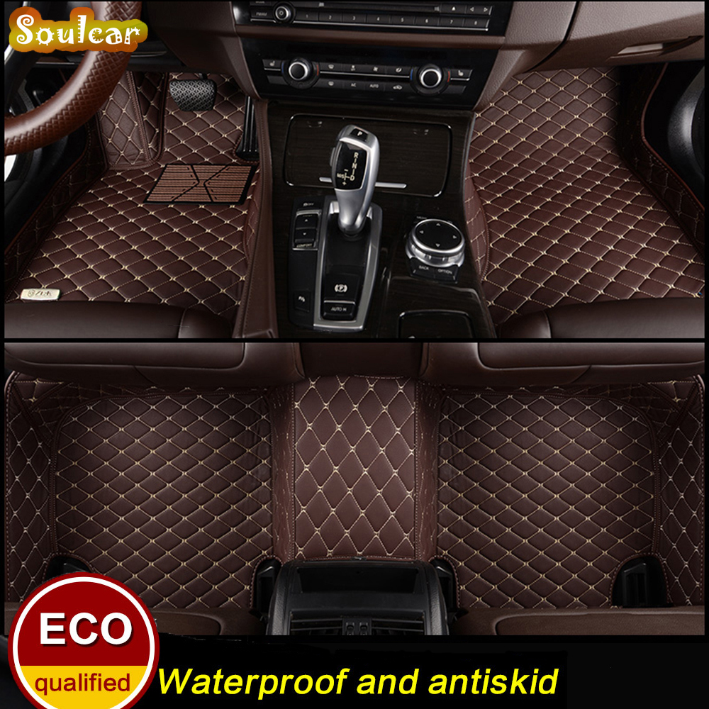 Custom fit Car floor mats for Citroen C3 C4 C4 AIRCROSS C5 2008-2017 car cover floor trunk carpet liners mats