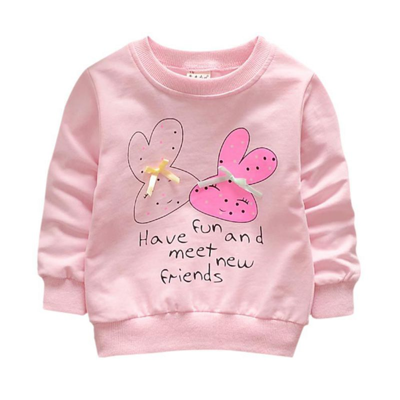 Lovely Baby Girls Outwear Cute Rabbit Coats Button Warm Toddler Children Clothing For 0-36 M
