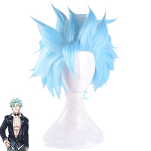 The Seven Deadly Sins Ban Fox's Greed Light Blue Short Synthetic Hair Halloween