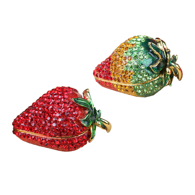 Strawberry Trinket Jewelry Box Ring Holder Mini Storage Container