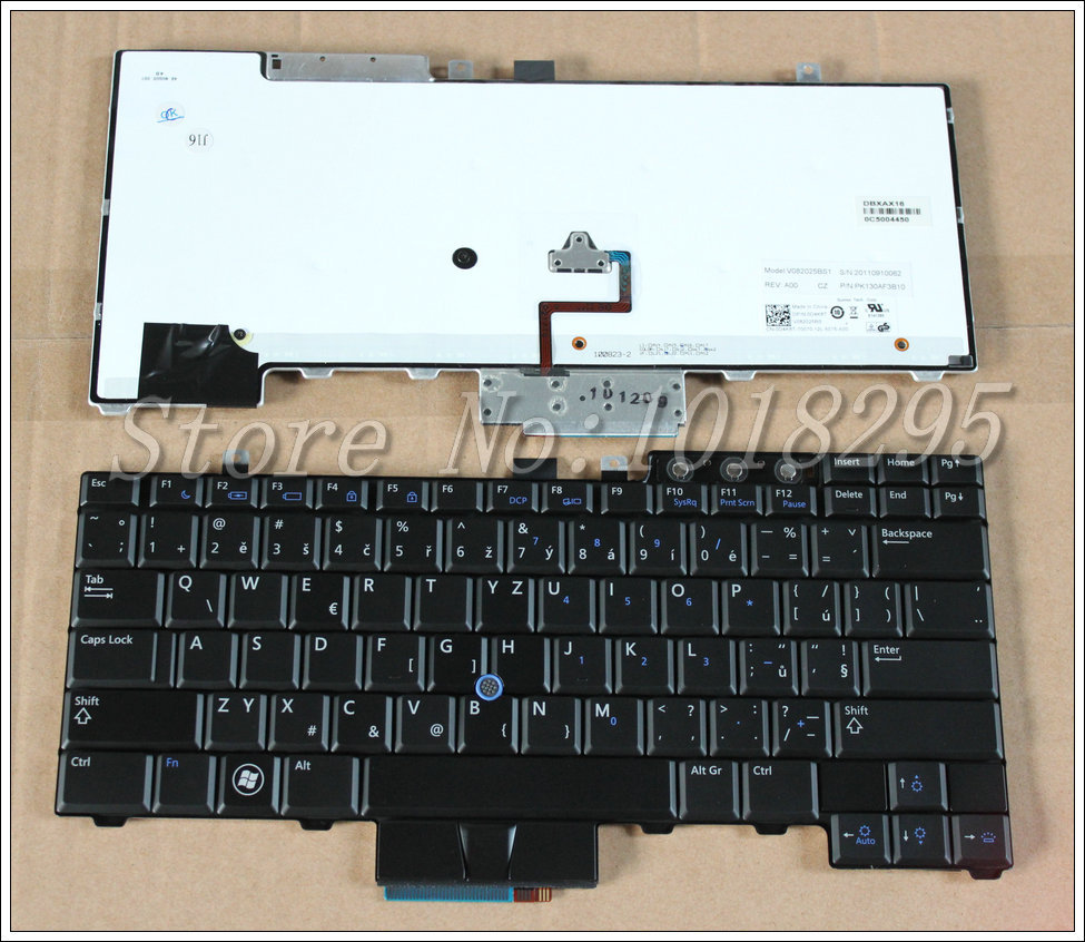New CZ/Czech for Dell Latitude E6400 E6410 E5500 E5510 E6500 E6510 M2400 M4400 laptop Keyboard With backlight  0D4K8T V082025BS1 laptop keyboard for acer silver without frame czech cz sk v 121646ck2 cs aezqs300110