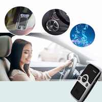 Siparnuo Solar Power Aux Bluetooth Car Kit Sun Visor Hands Free Speakerphone with USB Bluetooth Handsfree Carkit