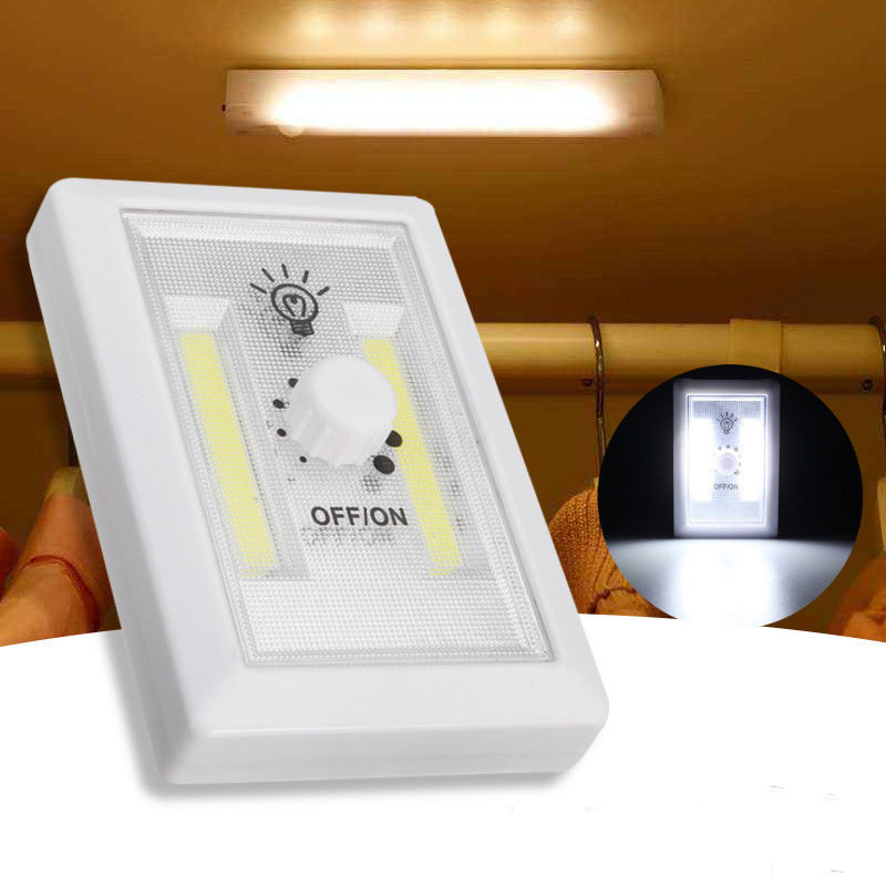 Garage Lights That Come On At Night: LED Wall Night Light Magnetic Closet Lamp Battery Operated
