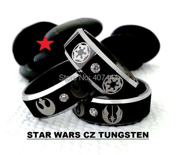 Free Shipping YGK JEWELRY Hot Sales 8MM Star Wars Galactic Imperial Empire/Rebel Alliance/Jedi Tungsten Rings светильник ruges блиц набор 3шт d 19