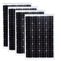 Panel Solar 12v 60w 4 Pcs Solar Panels 48v 240W Solar Car Charge Battery Solar Home Lighting System Motorhome Camping Car