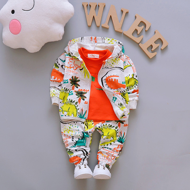 Children Boys Clothes Sets for Girl Baby Suit High Quality Cartoon Spring Autumn Coat+ T shirt +Pants Set Kids Clothing Set 1-4Y fashion baby girl t shirt set cotton heart print shirt hole denim cropped trousers casual polka dot children clothing set