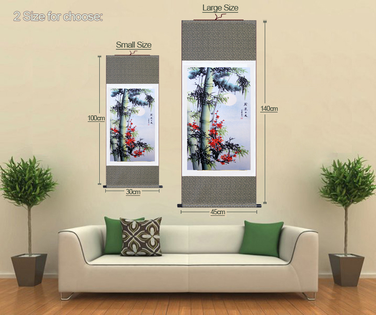 High Quality Traditional Chinese Painting Pine Bamboo&Plum Blossom ...