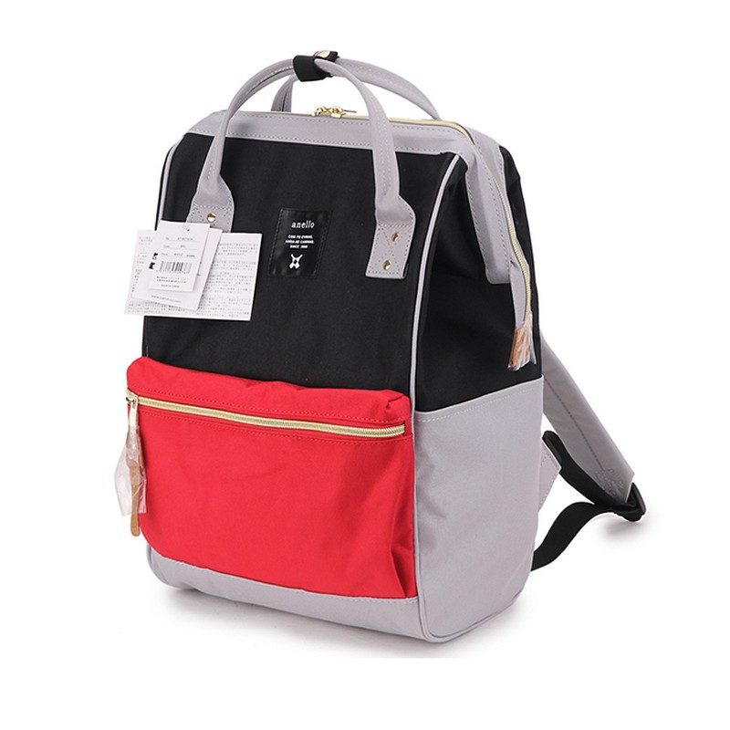 Japan original anello Backpacks For man's and women's Canvas Waterproof schoolBag Female Lightweight Ring travel Backpack(China)