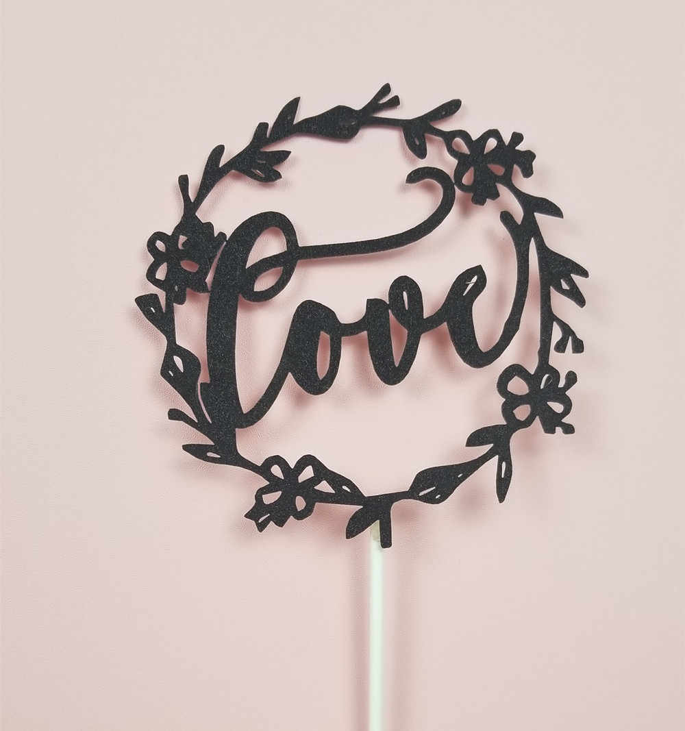 1pcs Cake Topper Love Shape Wedding & Birthday Cake Topper DIY Party Decoration Baby Shower Supplies