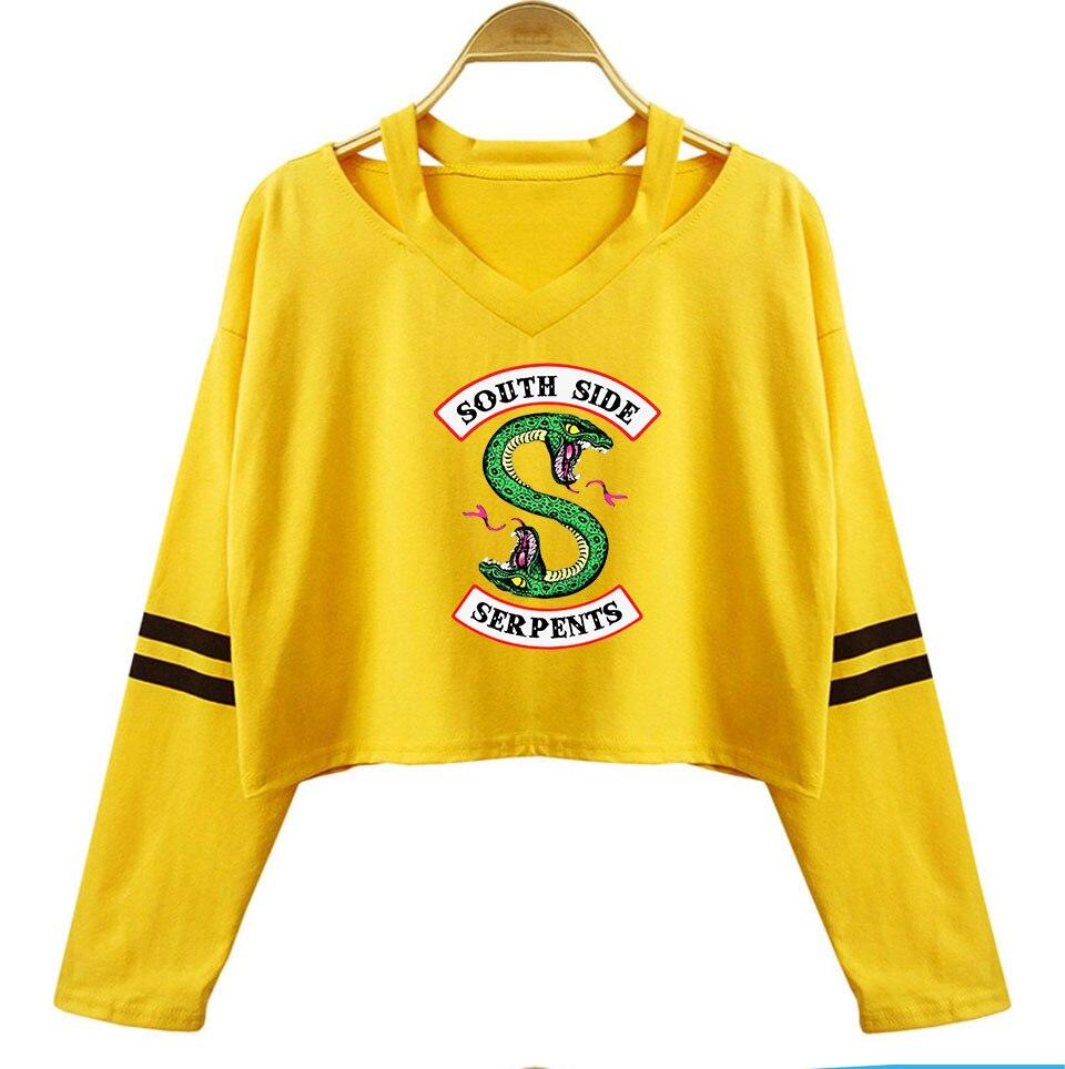 Riverdale South Side Serpent NEU Langarmshirt Cotton Crop Tops T-Shirt Pullover