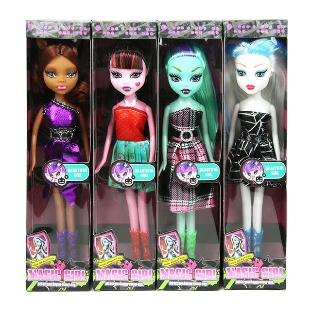OCDAY 4 Types Cartoon Wizard Dolls Movie & TV Theme Fashion Kids Toy Dolls Chirstmas Children Gift for Girls 22cm Hot Sale