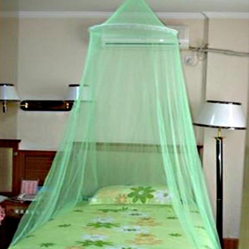 Элегантный круглый кружева насекомое навес балдахин занавес купол москитная сетка - Цвет: Green