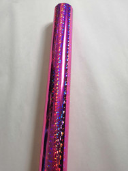 Holographic foil pink color broken glass pattern Q-1-04 hot stamping on paper or plastic heat transfer film 64cm x 120m