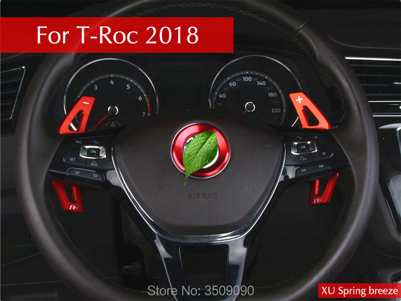 Car Steering Wheel Paddle Shift Paddle Shifter Car Styling Interior Decoration 2Pcs/set VW T-Roc 2017 2018 high quality compatible projector bulb poa lmp59 fit for plc xt16 plc xt3000 plc xt3200
