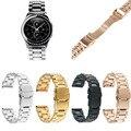 Aço inoxidável 316l clássico 5 pontos belt wrist strap watch band para samsung galaxy gear sm-r732 s2 clássico pulseira
