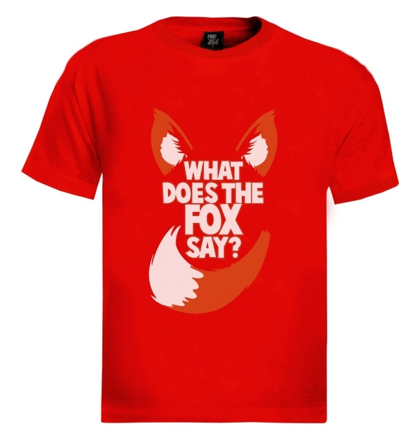2018 Fashion What Does The Fox Say T-Shirt Party Norwegian Dance Music Viral Video Drinking 100% Cotton Short Sleeve