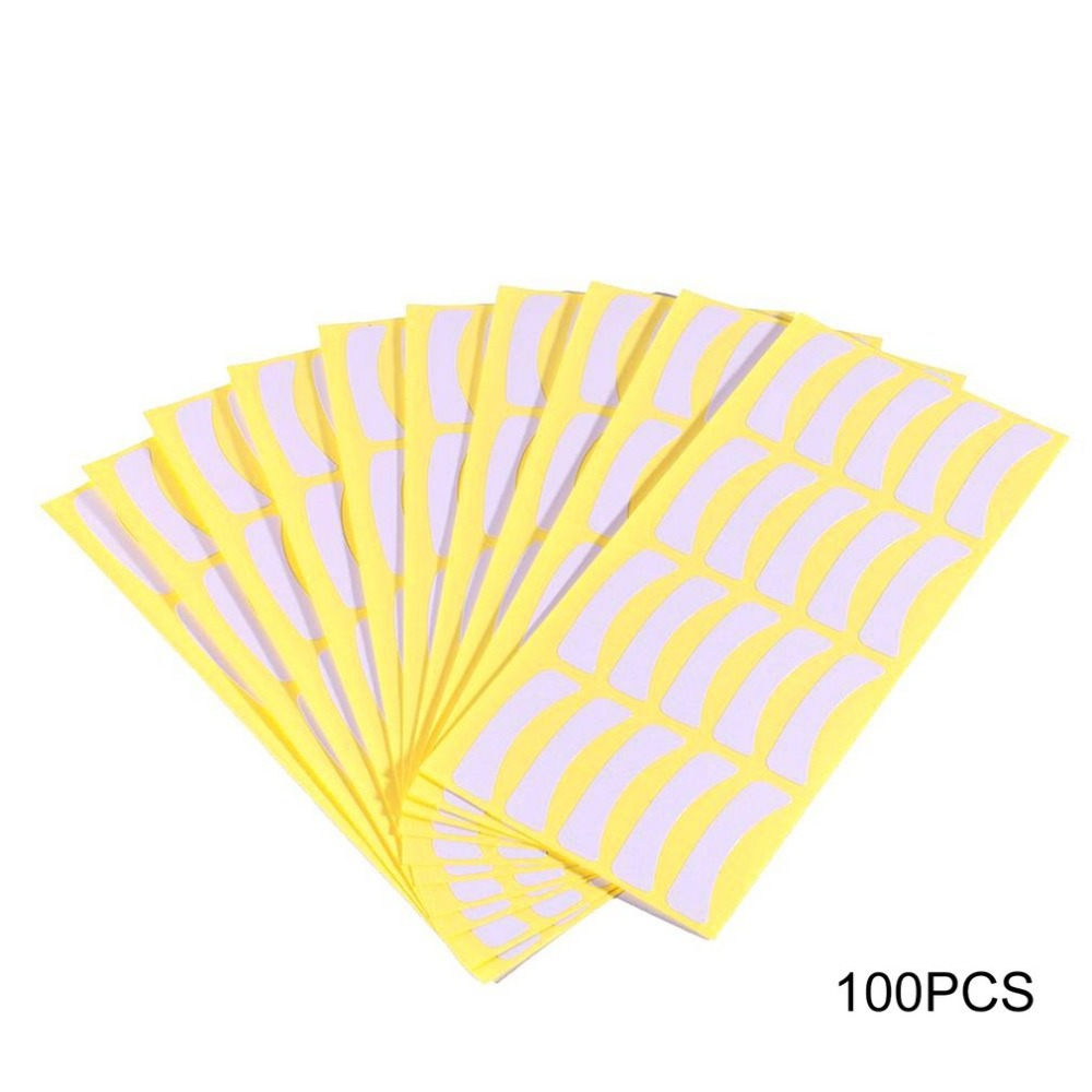 Pro 100Pcs Under Eye Pads Stickers Eye Lash Paper Patches Tips Sticker Wraps Individual False Eyelashes Extensions Makeup Tool