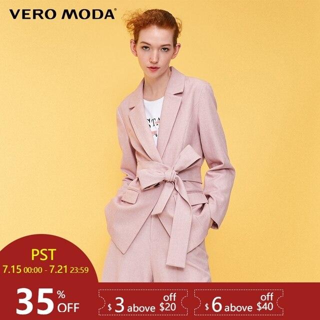 Vero Moda женский прямой крой пояс длинный пиджак блейзер | 318308524